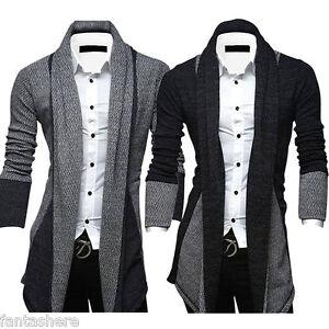 Men-Sweater-Cardigan-Knitted-Stylish-Slim-Fit-Korean-Jacket-Coat-Fashion-Tops