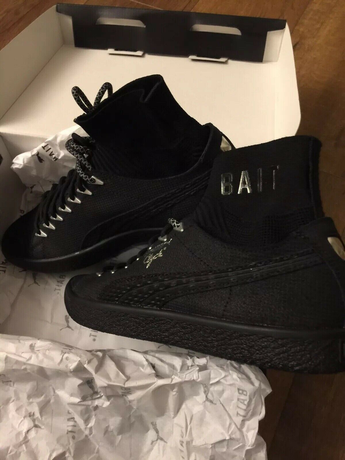 SDCC PUMA Clyde Sock Black Panther BAIT Size 7 Deadstock 184 of 200 Rare Collab