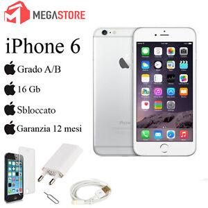 APPLE-IPHONE-6-16GB-BIANCO-GRADO-A-B-ACCESSORI-GARANZIA-12-MESI