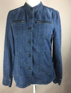 Womens Tommy Hilfiger Denim Button Up Blue Jean Jacket Very Light ... 10b7cab32e02c