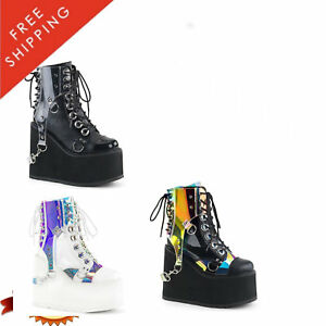 Details About Demonia Wedge Ankle 115 Swing Front Lace Boot Up Women's Platform YbfgvIym76