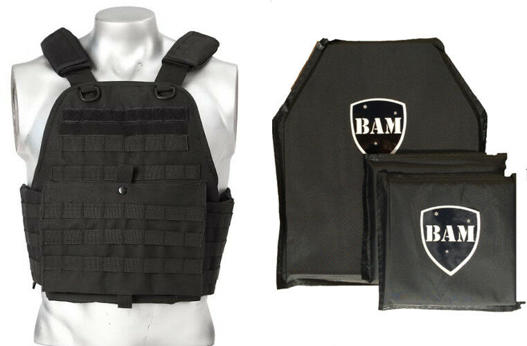 Level IIIA 3A   Body Armor Inserts   Bullet Proof Vest Plate Carrier - 10x12 6x6