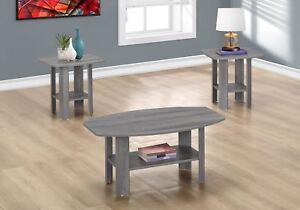 Monarch 3 Piece Table Set in Grey Sonoma Oak Finish I 7925P | eBay