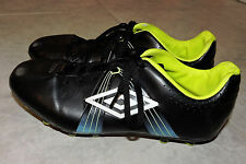 Umbro Special GT Soccer Cleats, Size 6, Black with Yellow/Blue