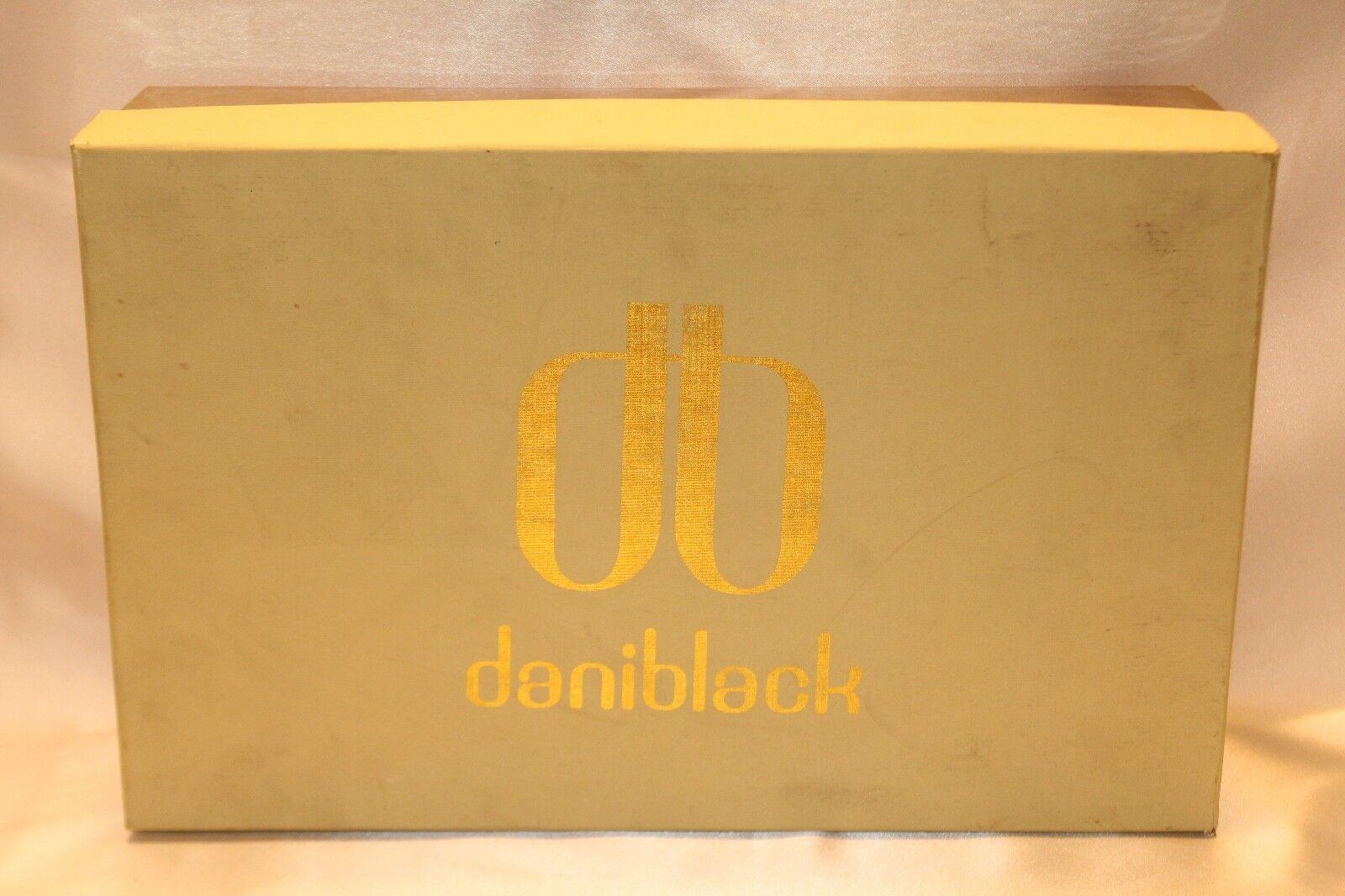 NEW  NIB  DANIBLACK Brick Braun Leder FRANCINE FRANCINE FRANCINE Cork Wedge Heels Sz 9 e1fcee