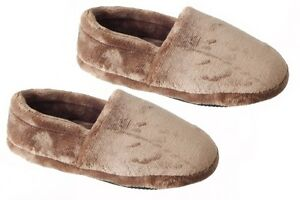 MENS COSIES INDOOR WARM SLIPPERS SHOESNAVY OR BROWN SIZES 6-11