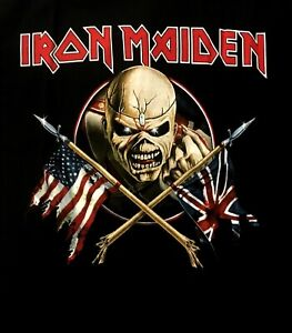 IRON-MAIDEN-cd-cvr-The-Trooper-CROSSED-FLAGS-Official-SHIRT-MED-new