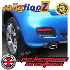 Schlamm Klappen FIAT 500s Cabrio 14 auf rallyflapZ 3mm Schwarz Logo Silber Blau