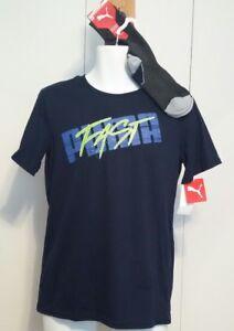 036642767a19 NEW NWT L 14-16 Large PUMA Boys T-Shirt   Sock Set Deep NAVY Puma ...