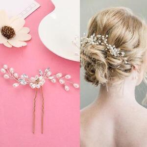 Prom Wedding Hairpin Beautiful Floral Headdress Plait Hair Clip Vine Gift 2PCS