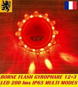 Stable Lampe Flash Gyrophare Led Pl-s 5v 2w 200lm 12+3 Rouge Multifonctions Magnétique BéNéFique Au Sperme