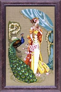 """SALE! COMPLETE XSTITCH KIT """"LADY HERA MD107"""" by Mirabilia"""