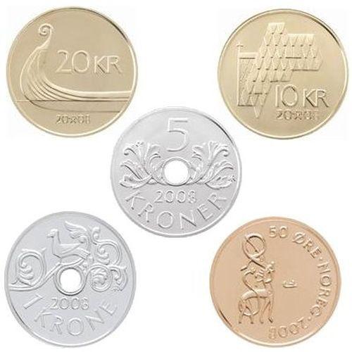 2007 Norway Souvenir Uncirculated Coin Set