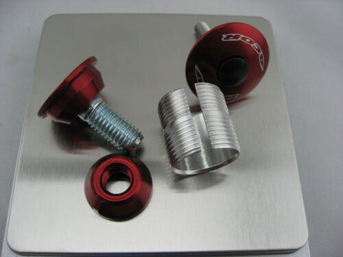 Acor star nut for carbon steerer tube 1 1//8 23-24mm with top cap red color