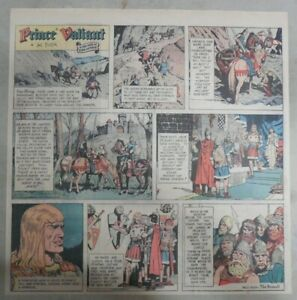 Prince-Valiant-Sunday-by-Hal-Foster-from-6-13-1971-2-3-Full-Page-Size