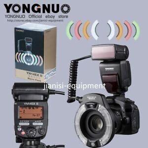 Yongnuo-YN-14EX-II-TTL-Macro-Ring-Flash-Speedlite-avec-Filtre-Pour-Canon-Camera