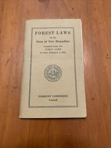 1932-Forest-Laws-of-The-State-of-New-Hampshire-Forestry-Commission-Booklet