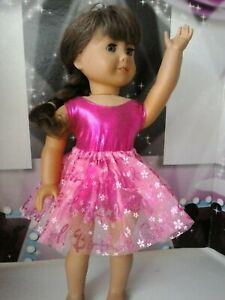 Pink-Birthday-Girl-Tutu-amp-Leotard-18-inch-Doll-Clothes-fits-American-Girl-Dolls
