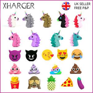 Emoji Portable Charger Powerbank Poop Unicorn Devil Vape Gopro