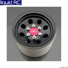 Hot Racing BLW22H01 Steel 2.2 Beadlock 6-Lug 8-Hole Wheels for 12mm Hex (Black)