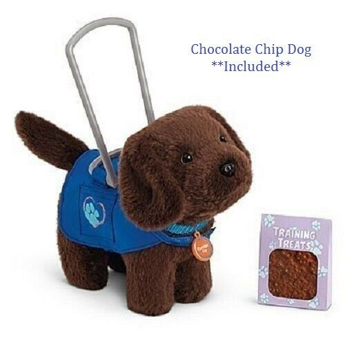 Dog Included!! American Girl Doll Service Dog Vest and Chocolate Chip Set NEW!