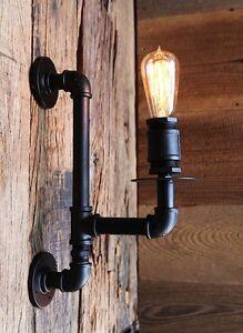 Applique-murale-tube-amp-raccords-style-industriel-Pour-Ampoules-a-filament
