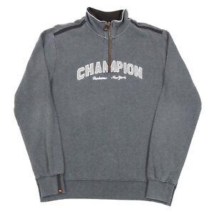 0af8fb022a21 Image is loading VGC-Vintage-CHAMPION-Quarter-Zip-Spell-Out-Sweatshirt-