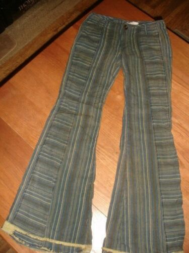 FREE PEOPLE BOHO MULTI PINSTRIPE VINTAGE WASH DIST