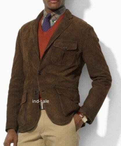 Custom Tailor Made All Size Genuine Vintage Suede Blazer Coat LEATHER JACKET