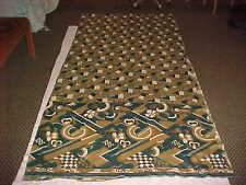 NEW PEACOCK Green CREAM SPLENDID Sari Fabric PANELS Drapes WINDOWS Curtain SAREE