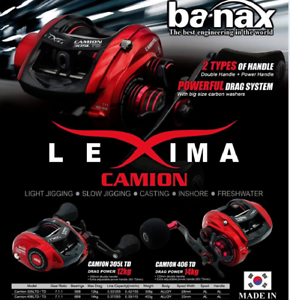 Fishing-reel-BANAX-CAMION-406-LTD-left-hand-Baitcasting-Reel-Bait-Reel