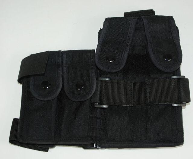 TACTICAL DROP-LEG QUATERNATE MAG POUCH BLACK -32689