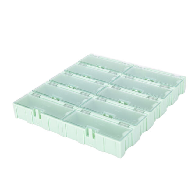 10pcs Anti-static SMT SMD Kit Lab chip Components Screw Storage Box Case  X