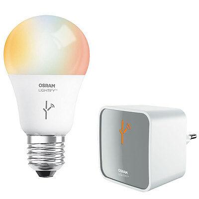 OSRAM LIGHTIFY Starter-Kit mit WLAN-Gateway und 10-W-RGBW-LED-Lampe E27