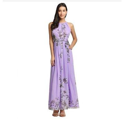 Womens Long Maxi Dress Evening Party Summer Beach Boho Holiday Dresses size 8-28
