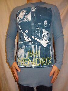 Jimi-Hendrix-Blue-Thermal-Long-Sleeve-Zion-Rootswear-Shirt-Size-L