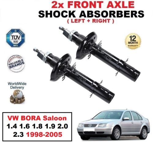 2X FRONT SHOCK ABSORBERS for VW BORA Saloon 1.4 1.6 1.8 1.9 2.0 2.3 1998-2005