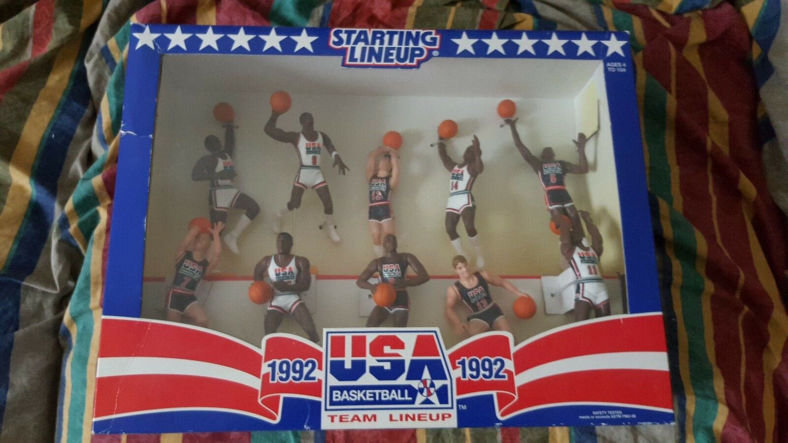 BOX SET STARTING LINEUP USA BASKET OLIMPIC 1992DREAM TEAM KENNER LIMITED EDITION
