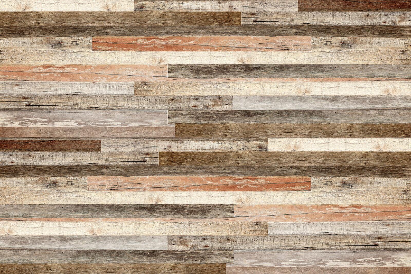 NON-WOVEN Photo Wallpaper (66V) -WOODEN WALL-350cmx260cm 7 strips Mural Wood