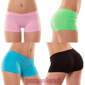Pantaloncini-donna-culotte-shorts-intimo-fitness-sport-hot-pant-nuovi-YQ3308