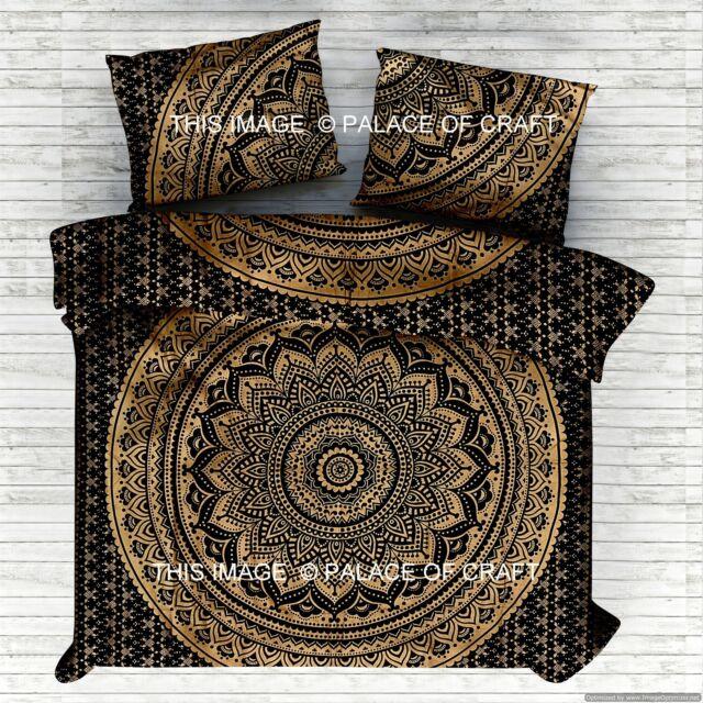 Queen Mandala Duvet Doona Blanket Cover Set Indian Boho