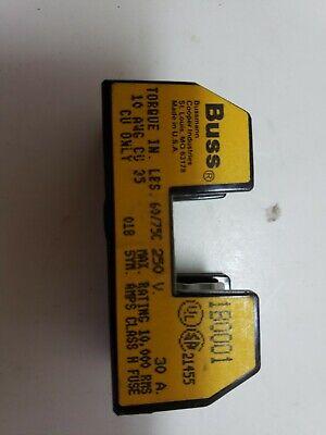 BUSS SINGLE POLE 60//75C 250V 30A FUSE HOLDER 1B0001