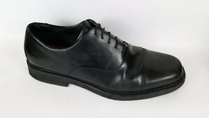 ROCKPORT M1708 Cap Toe Oxford Black Leather Lace Up Dress Shoes 11.5 M No Insole