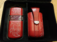 Vertu Constellation Rococo Scarlet Genuine Leather Polished Steel Mobile Phone