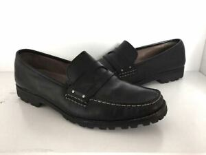 Cole Haan Mens Size 10 B Shoes Black Leather Penny Loafer ...