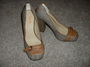 Levity-Womens-Shoes-Brown-Houndstooth-Hayden-Pumps-High-Heels-Size-8M-8-NWOB-NEW