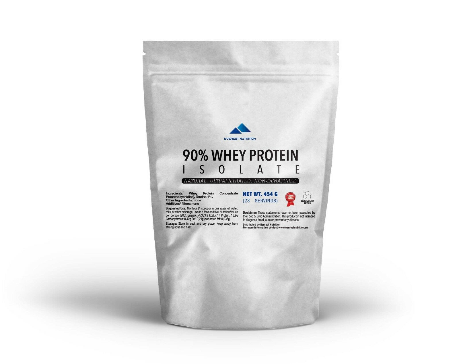 WHEY PROTEIN ISOLATE 90% WPI NATURAL FLAVOUR