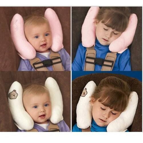 Adjustable Toddler Headrest For Car Seat Pushchair Neck Support Travel Pillow DS