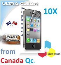 10X HD clear screen protector iphone 4 4g 4s film guard LCD shield protection