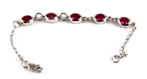 Christening Bracelet With Birthstones Solid Silver
